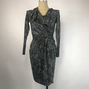 Max Mara Leopard Wrap Dress - H112